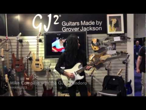 GJ2 Guitars by Grover Jackson - Glendora test drive by Mike Campese, NAMM 2013