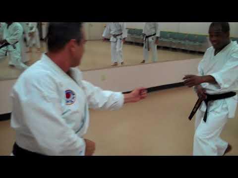 Kumite practice