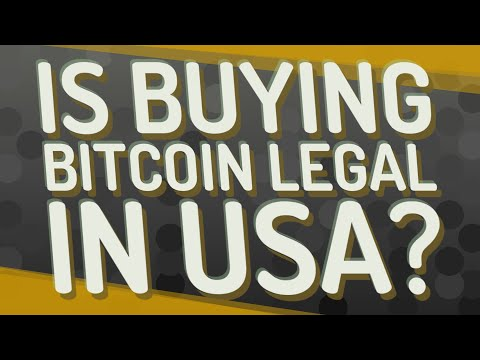 Is Buying Bitcoin Legal In USA?
