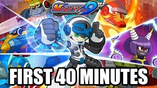 Mighty No. 9 - First 40 Minutes Gameplay (PS4) @ 1080p (60fps) HD ✔