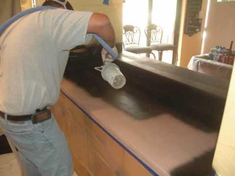 Refinishing Kitchen Countertops Valence Countertop Wmv Youtube