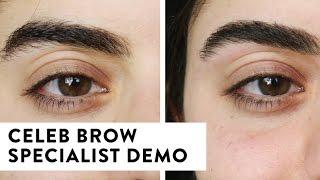 How To Shape Eyebrows - Celebrity Eyebrow Specialist Demo