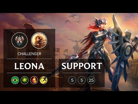 Leona Support vs Pyke - BR Challenger Patch 9.1