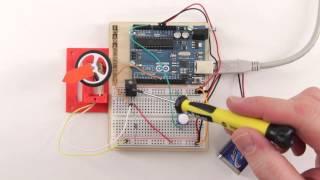 Arduino und MOSFET steuern Gleichstrommotor