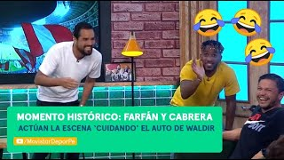 Al Ángulo: Franco Cabrera y Jefferson Farfán actúan la escena 'cuidando el carro de Waldir'😂😂