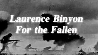 Laurence Binyon | For the Fallen