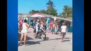 Batalla campal en Barranquilla luego de que procedimiento policial se saliera de control