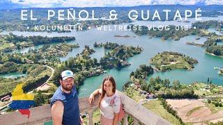 """Wir machen heute einen tagesausflug von medellín aus und besuchen """"el peñol"""", den fels guatapé. dieser (riesen-)naturfels steht inmitten einer wunderschö..."""