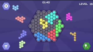 HEX BLOCKS PUZZLE - ADVANCE TO BIG BOARD LEVEL 15-20