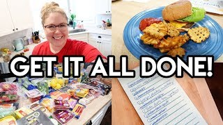 🤩 WEEKEND PREP! 🛒 $130 ALDI HAUL ✨ CLEAN WITH ME 🍔 COOK WITH ME