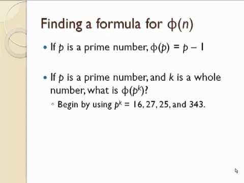 Euler's Phi Function