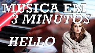 Como tocar #3 - Hello (Adele) - Aula de piano/teclado iniciantes