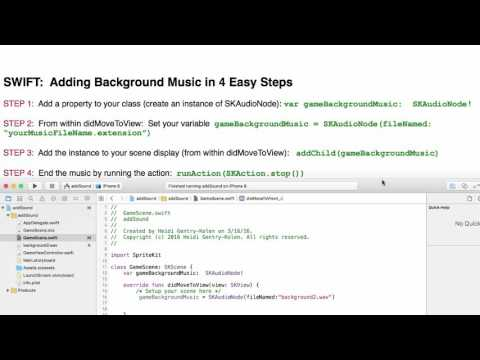 SWIFT:  Adding Background Music in 4 Easy Steps