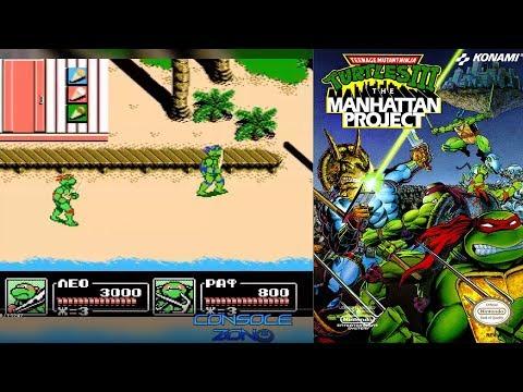 Teenage Mutant Ninja Turtles III: The Manhattan Project (Денди) - прохождение игры на двоих