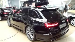 2017 audi a6 avant s line exterior interior 2 0 tfsi 180 hp 217 km h 134 mph playlist