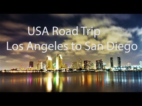 USA Road Trip Los Angeles  to San Diego GoPro 4K