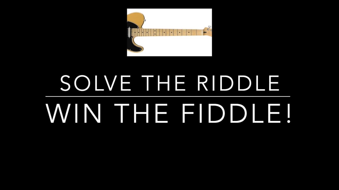FIRST TWO CLUES : Solve the Riddle - Win the Fiddle GUITAR GIVEAWAY Fender  Players Series Telecaster
