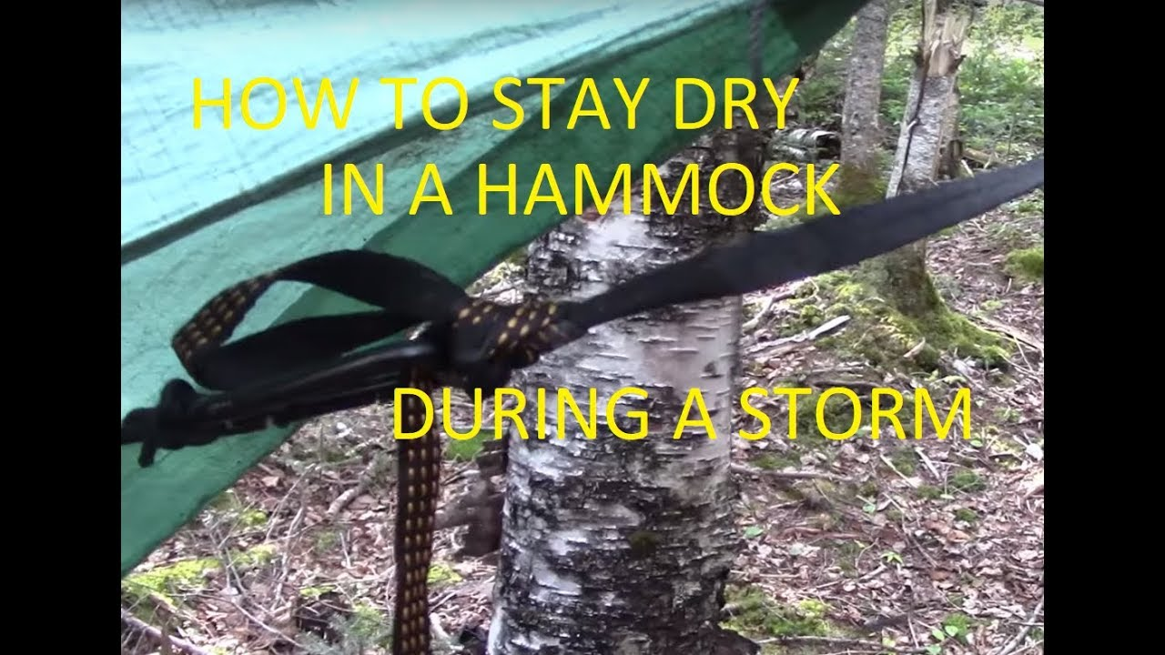 how to stay dry in a hammock