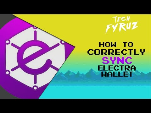 TUTORIAL - How To Fix SYNC Error / Correctly SYNC Electra Wallet