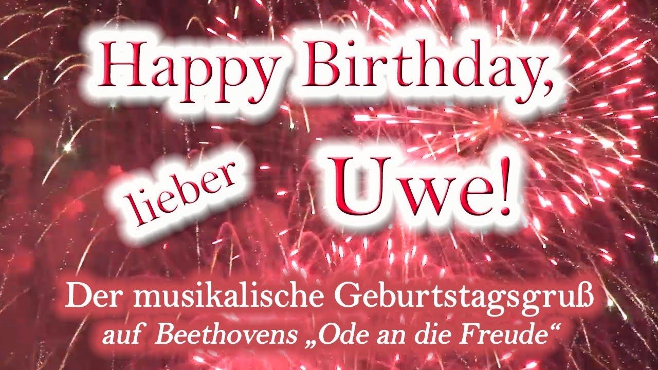 Happy Birthday Lieber Uwe Alles Gute Zum Geburtstag