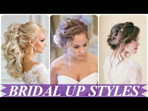Beautiful hair up styles for wedding 2018