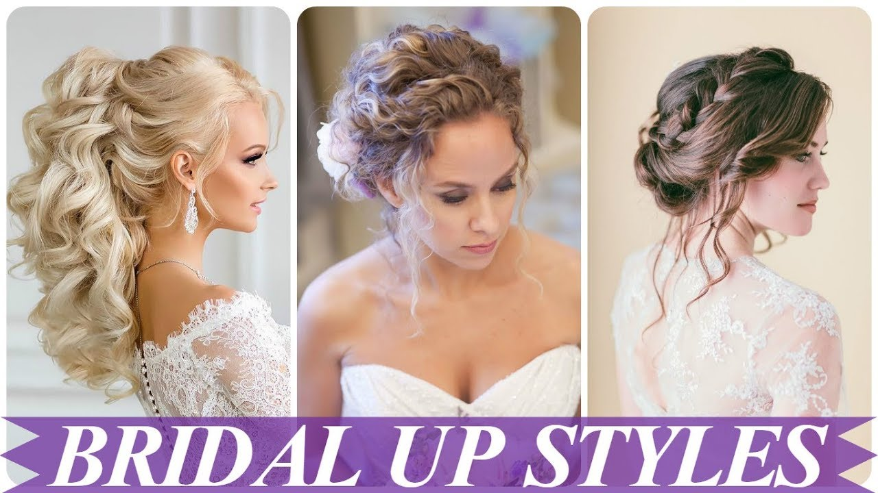 beautiful hair up styles for wedding 2018 - youtube