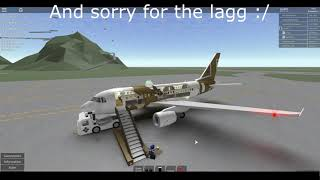 [ROBLOX] Kenya Airways private flight.