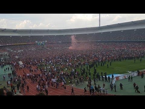 1. FCN - Fortuna Düsseldorf | 13.05.18 | Platzsturm, Pyrotechnik und Aufstiegsfeier [FULL HD]
