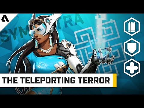 Symmetra - The Teleporting Terror (New Ice Turret Tech) | Behind The Akshon