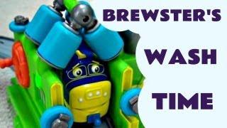vuclip Interactive Chuggington Brewster WASH & FUEL SET Kids Toy Review Train Set Like Thomas