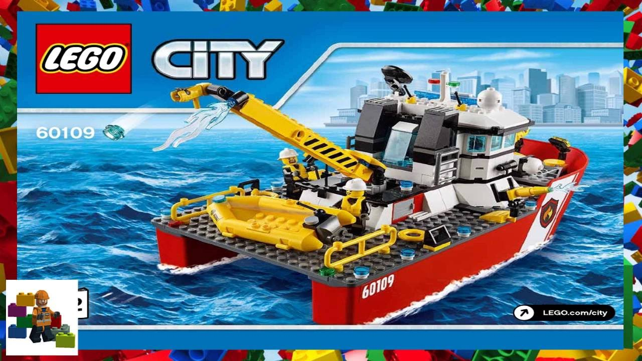 Lego Instructions City Fire 60109 Fire Boat Book 2 Youtube