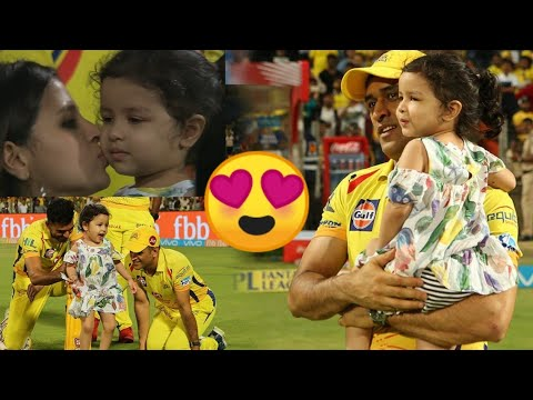 Full Real Uncut Video: Ms Dhoni Playing With Daughter Ziva  in Ground After Beat Kings XI Punjab