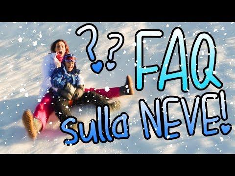 FAQ senza TAGLI sulla NEVE! troppo divertente! ♥