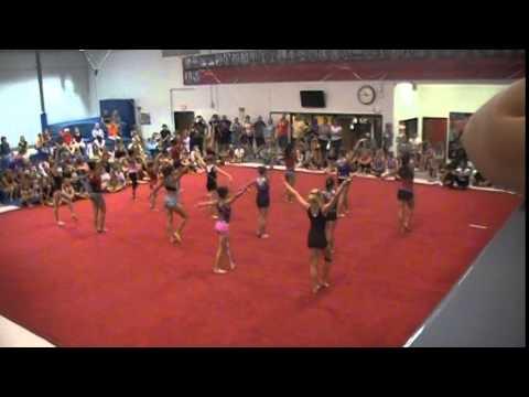Nebraska gymnastics camp team dance