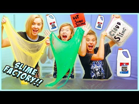 WE TURNED OUR HOUSE INTO A SLIME FACTORY!! Learn HOW to MAKE CLOUD SLIME!