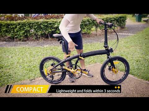 Camp Gold USA - Singapore best foldable bicycle bike foldie review