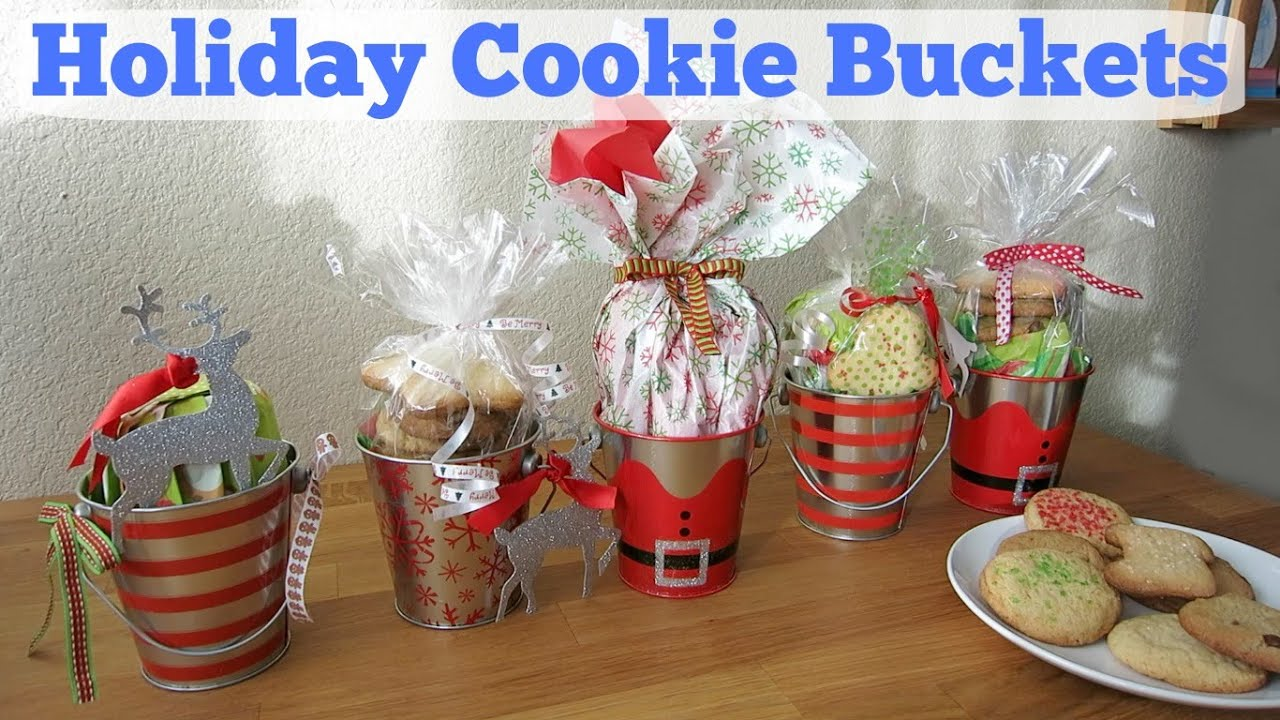 Diy holiday cookie buckets christmas gift ideas youtube for Christmas cookies to make for gifts