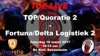 TOP/Quoratio 2 tegen Fortuna/Delta Logistiek 2, zaterdag 18 maart 2017