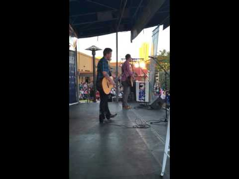 Love And Theft sing 'Let's Get Drunk And Make Friends' at the 102.7 The Wolf Rodeo Kickoff Concert
