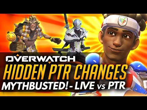 Overwatch | HIDDEN PTR CHANGES MYTHBUSTED - Lucio, Junkrat, Genji, Sombra & More