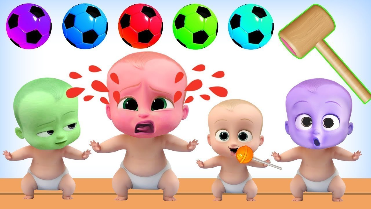 Learning Colors With Color Boss Baby Soccer Ball Wooden