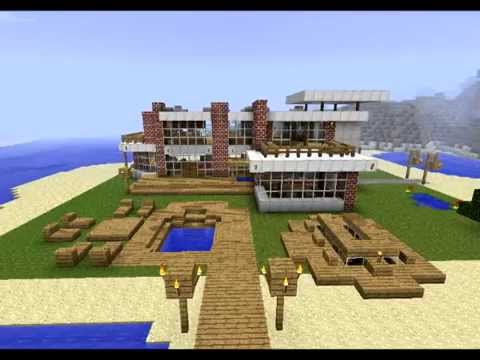 Minecraft Beta Minecraft Modern Beach House Design With