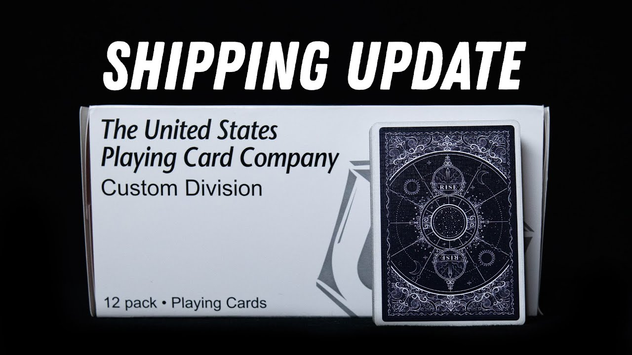 Rise Playing Cards Shipping Update!!! + GIVEAWAY