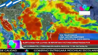 Se reportan 4 víctimas arrastradas por las corrientes, 2 en Nueva Segovia y 2 Matagalpa