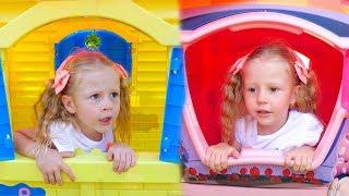 Nastya y papá historia divertida para niños sobre gemelos
