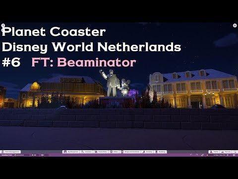"[Planet Coaster] Disney World Netherlands #6 Featuring: Beaminator - ""Partners"" Statue"