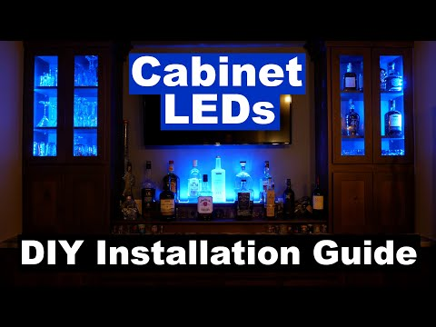 DIY How to Install Cabinet Accent LED Lighting | MiLight LED Controller