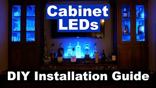 DIY How to Install Cabinet Accent LED Lighting   MiLight LED Controller