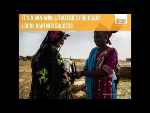 Webinar: It's a win-win — strategies for local USAID partner success