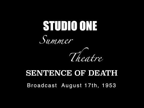 LIVE TV RESTORATION: STUDIO ONE - Sentence of Death